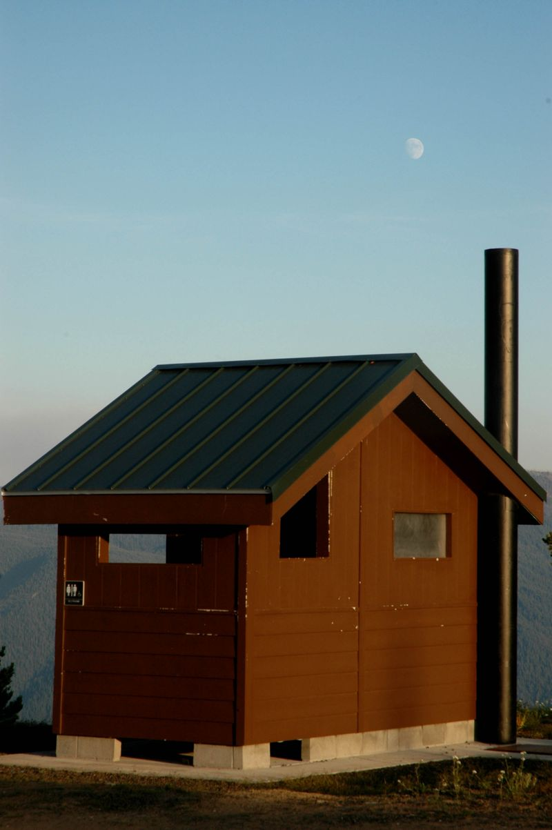 Outhouse moon